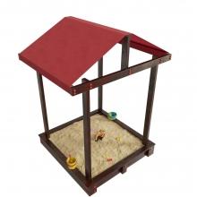 Песочница с крышей Дюна (лак венге)