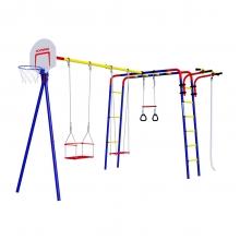 Детский спортивный комплекс для дачи ROMANA Акробат (фанерные качели)