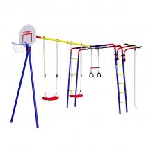 Детский спортивный комплекс для дачи ROMANA Акробат (пластиковые качели)