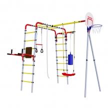 Детский спортивный комплекс для дачи ROMANA Fitness (пластиковые качели)