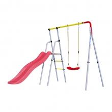 Детский спортивный комплекс для дачи ROMANA Лето (пластиковые качели)