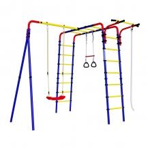 Детский спортивный комплекс для дачи ROMANA Веселая лужайка - 2 (пластиковые качели)