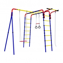 Детский спортивный комплекс для дачи ROMANA Веселая лужайка - 2 (фанерные качели)