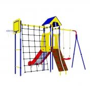 Детский спортивный комплекс для дачи ROMANA Замок (пластиковые качели)