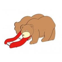 "Горка мини  ""Медведь"""