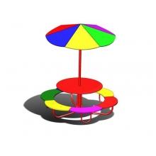 Столик Цветочек с зонтом