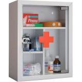 Шкафы аптечки медицинские металлические в Краснодаре