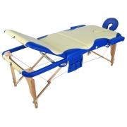 Массажный стол складной деревянный JF-AY01 3-х секционный (МСТ-103Л)