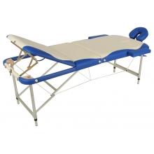 Массажный стол складной алюминиевый JFAL03 М/К (3-х секционный) (МСТ-27B)