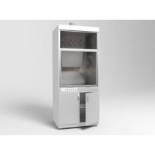 Шкаф вытяжной ШВ-01-МСК с тумбой без подвода воды, столешница нерж. сталь (эконом)