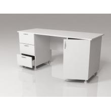 Стол для оснащения кабинета врача двухтумбовый СМ-2-04.02 на опорах