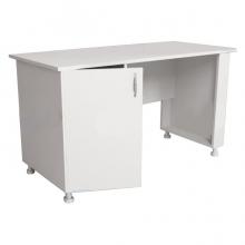 Стол для оснащения кабинета врача однотумбовый СМ-1-01.02 (на опорах)