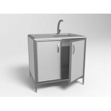 Лабораторный стол с мойкой СЛМ 2-02