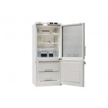 Холодильник лабораторный ХЛ-250 ПОЗИС с тонированной стеклянной и металлической дверью