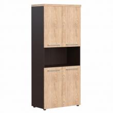Шкаф с 2-мя комплектами глухих малых дверей и топом AHC 85.4