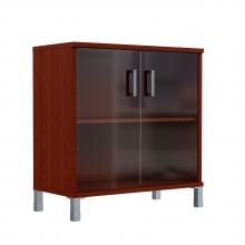 Шкаф низкий со стеклянными дверьми 410.5