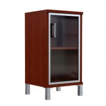 Шкаф колонка низкая со стеклянной дверью в AL рамке 411.4 (L/R)