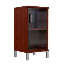 Шкаф колонка низкая со стеклянной дверью 411.5