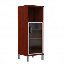 Шкаф колонка средняя с малой стеклянной дверью в AL рамке 421.4(L/R)