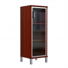 Шкаф колонка средняя со стеклянной дверью в AL рамке 421.7(L/R)