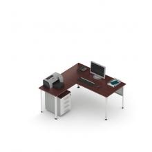 Стол офисный угловой П1 с Приставкой (ширина 1600)