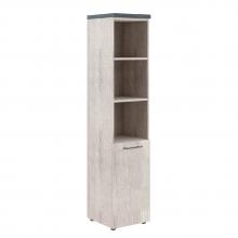 Шкаф колонка с глухой малой дверью и топом THC 42.5