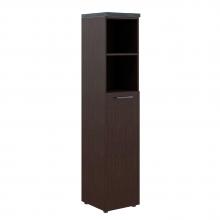 Шкаф колонка с глухой средней дверью и топом THC 42.6