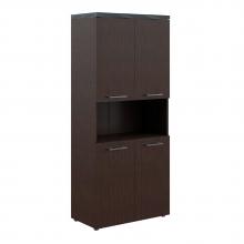 Шкаф с 2-мя комплектами глухих малых дверей и топом THC 85.4