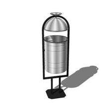Урна УК-2КП с козырьком и пепельницей