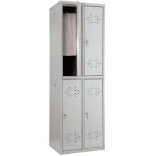 Металлический шкаф для раздевалок - ПРАКТИК LS-22